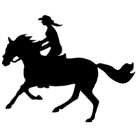 Cantering Woman Reflective Decal for Sale!