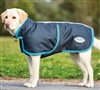 WeatherBeeta Parka 1200D Deluxe Dog Coat- Black/Turquoise For Sale!