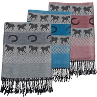 Equestrian Pashmina Scarf for Sale!