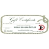 Gift Certificates for Sale