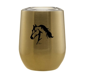 Stemless Wine Tumbler, Gold for Sale!