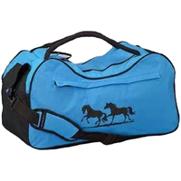 Blue Duffle Bag with Horse Print for Sale!