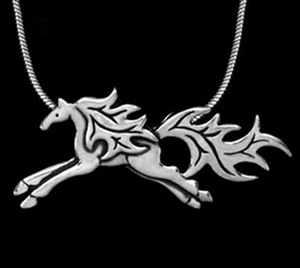 JJeni Ash Horse Necklace For Sale!
