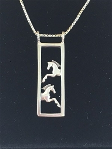 JJeni Duet ©, Leaping Horse Necklace For Sale!