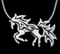 JJeni Ember Horse Necklace For Sale!