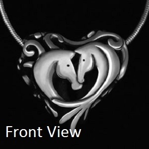 JJeni Entwined Horse Heart Necklace For Sale!