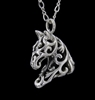 JJeni Ivy Filigree Horse Necklace For Sale!