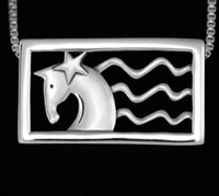 JJeni Ivy Patriotic Horse Necklace ©