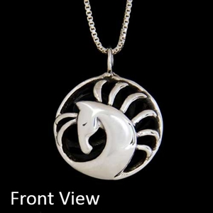 JJeni Morgance Silver Horse Pendant Necklace For Sale!