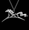 JJeni Wind Paint Horse Pendant Necklace For Sale!