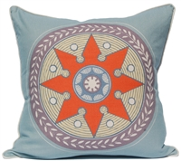 Star Medallion Pillow - Blue