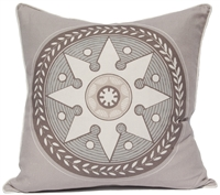 Star Medallion Pillow - Gray