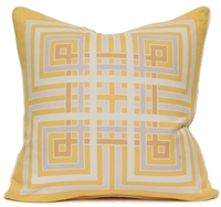 Squares Pillow - Yellow