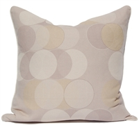 Circle Dots Pillow - Gray