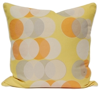 Circle Dots Pillow - Yellow