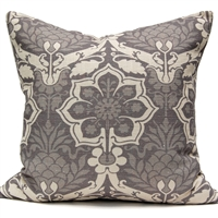 Pineapple Damask Pillow - Gray