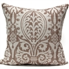 Medieval Damask Pillow - Chocolate