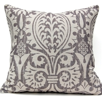 Medieval Damask Pillow - Gray