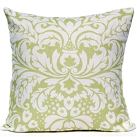 Large Damask Pillow - Green