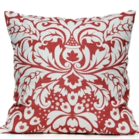 Large Damask Pillow - Watermelon