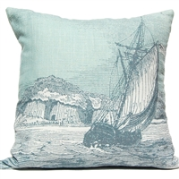 Full Sail Engraving Pillow - Silverberry