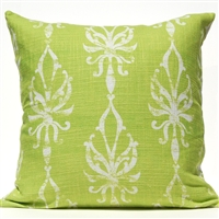 Flourish Ogee Pillow - Green