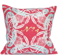 Crab Pillow - Coral