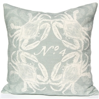 Crab Pillow - Silverberry