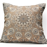 Medallion 4 Pillow - Gray