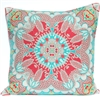Scarf Print Pillow - Coral