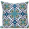 X Tile Pillow - Navy