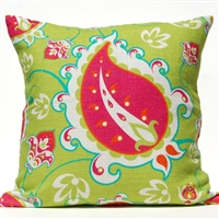 Paisley Pillow - Green