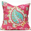 Paisley Pillow - Pink