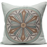 Medallion 6 Pillow - Oyster Bay
