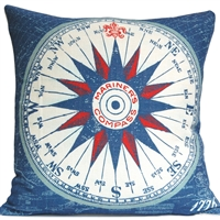 Mariner's Compass Pillow - Americana