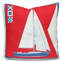 Sailboat Pillow - Americana