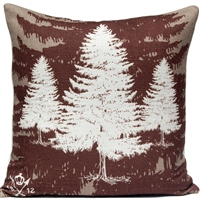 Pine Tree Pillow - Lodge