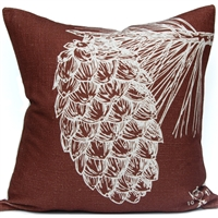 Pine Cone Pillow - Lodge