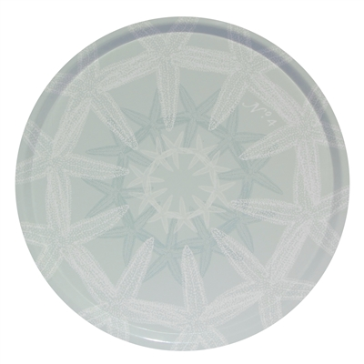 Outdoor Serving Tray - Starfish Suzani Silverberry