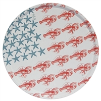 Outdoor Serving Tray - Sealife Flag Americana