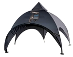 Attention grabbing arched shape event tent 20 feet with multiple awning and side wall options