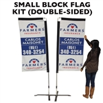 SMALL CUSTOM PRINTED ADVERTISING BANNER FLAG KIT (DOUBLE-SIDED)
