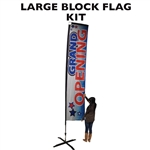LARGE CUSTOM PRINTED ADVERTISING BANNER FLAG KIT (SINGLE-SIDED)