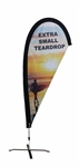 EXTRA SMALL CUSTOM PRINTING ADVERTISING TEARDROP FLYING FLAG KIT (Single-Sided)