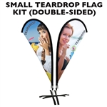 SMALL CUSTOM PRINTED ADVERTISING TEARDROP FLAG KIT (DOUBLE-SIDED)