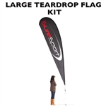LARGE CUSTOM PRINTING ADVERTISING TEARDROP FLYING BANNER FLAG KIT (Single-Sided)