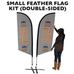 SMALL CUSTOM PRINTING FEATHER ADVERTISING BANNER FLAG KIT (Double-Sided)
