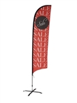 SALE - MEDIUM FEATHER ADVERTISING BANNER FLAG (Single-Sided)