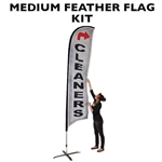 MEDIUM CUSTOM PRINTING FEATHER ADVERTISING BANNER FLAG KIT (Single-Sided)
