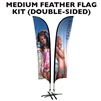 MEDIUM CUSTOM PRINTING FEATHER ADVERTISING BANNER FLAG KIT (Double-Sided)